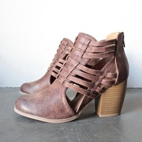 forward thinking - cut out ankle boots