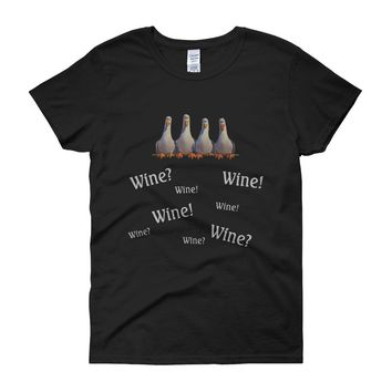 Finding Nemo Themed Wine Women'S T Shirt