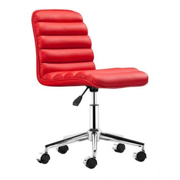 ZUO Modern Admire 205712 Office Chair Red