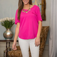 Just For Show Top, Hot Pink