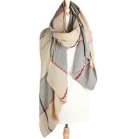 Look Collections Plaid Blanket Scarf MSF1046 Other Colors Available
