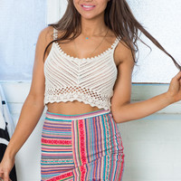 SPICE YOUR LIFE SKIRT IN PINK PRINT
