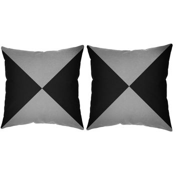 Metallic Silver Hourglass Throw Pillows