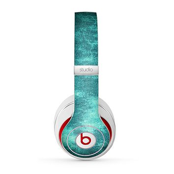 The Grungy Teal Chipped Concrete Skin for the Beats by Dre Studio (2013+ Version) Headphones