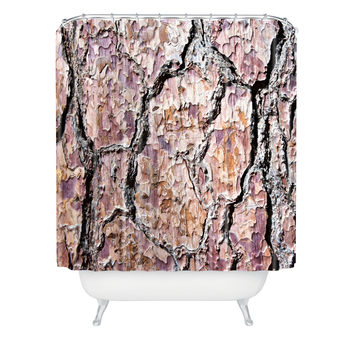 Lisa Argyropoulos Rugged Bark Shower Curtain