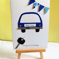 Congratulations card, driving test card, you passed card, celebration card, well done card, greeting card, handmade card, just passed card