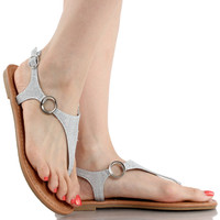 Break-10 Summer T-Strap Buckle Sandals