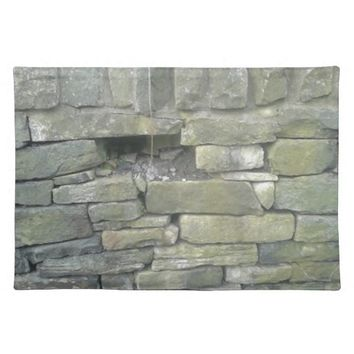 Old Wall, Stone, Bricks Cloth Placemat