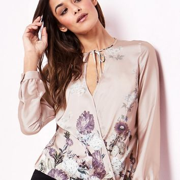 Lipsy Printed Satin Blouse