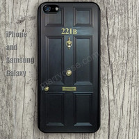 Door 221B case pattern iphone 6 6 plus iPhone 5 5S 5C case Samsung S3,S4,S5 case Ipod Silicone plastic Phone cover Waterproof