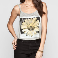 Full Tilt He Loves Me Daisy Womens Swing Tank Grey  In Sizes