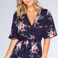 Meadow Moments Romper - Navy