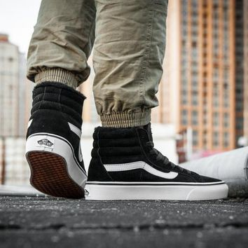 LMFON Vans Sk8-Hi F179 High Top Leather With Fur Warm Casual Sneakers Sport Shoes