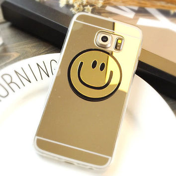 Fashion 3D Mirror Smiling Face iPhone 5se 5s 6 6s Plus Case Solid Cover + Gift Box 435