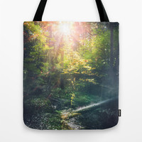 Just breathe Tote Bag by HappyMelvin