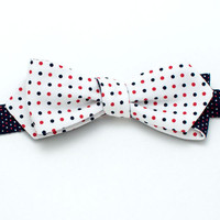 Somers Multidot Diamond Point Bow - Handmade Vintage Ties, Bow Ties, Pocket Squares, and Men's Furnishings - General Knot & Co.