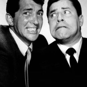 "Dean Martin Jerry Lewis Poster Black and White Mini Poster 11""x17"""