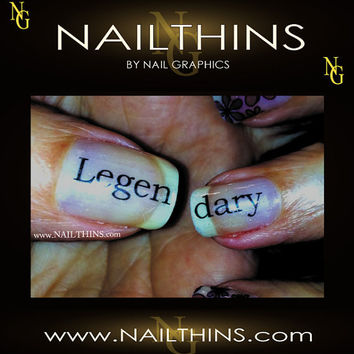 LEGENDARY split word nail art  nail decal  nail by NailGraphics