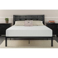 Zinus Faux Leather Classic Platform Bed with Steel Support Slats, Multiple Sizes - Walmart.com