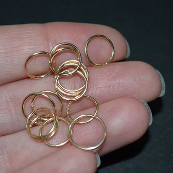 18g NOSE RING, cartilag ring, helix, brow hoop earring, 18 gauge septum, single, sleeper, ear gold filled golfilled wire 20g 18g piercing