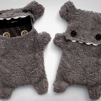 Fellfische - fluffy Cellphone Case for Iphone 3 & 4 - Anthracite Teeth