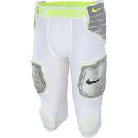 Nike Mens Hyperstrong Compression Hard Plate Football Pants White