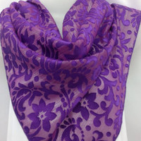 Lavender lace scarf, Birthday Gift, Holiday Gift, Gift for Mother, Gift for Her, Bridal lace scarf, Gift for Coworker, Hippie chunky scarf