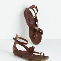 ModCloth Boho Soak Up Some Sun Sandal in Brown