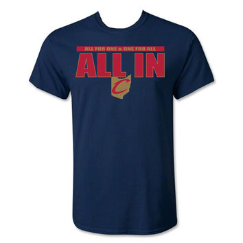 Cleveland Cavaliers All In All For One & One For All T-Shirt Sm-3x Cavs Tee