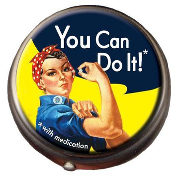 You Can Do It - Rosie the Riveter Pill Box
