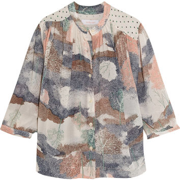 See by Chloé - Printed crepe-chiffon top