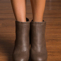 Life In The Sass Lane Booties, Taupe Gray