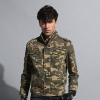 Military Tactical Jacket Style Militar Clothing Jeans Male Soldier Camo Jacket Men's Army Camouflage Jacket Coats