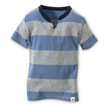Burt's Bees Baby™ Organic Cotton Rugby Stripe Cut Neck T-Shirt in Twilight