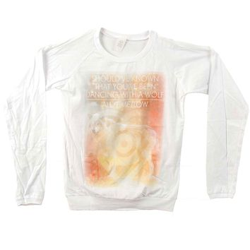 All Time Low  White Dancing Wolf Junior Top White