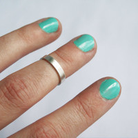 Thick Silver Knuckle Ring, Wide Knuckle Ring, Midi Ring, Simple Ring
