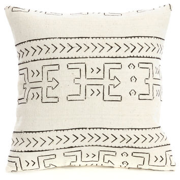 A Queen's Cloth Fishbone Design Pillow from Mali