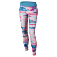 Nike Legend Tight Fit Allover Print Girls' Training Pants Size XS (Pink)