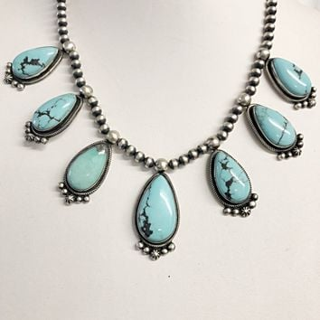 Sunwest Jewelry~ Campitos Turquoise and Navajo Beads Necklace