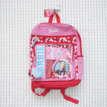 90's Backpack, Cheerleader Barbie Backpack, Pom Pom Backpack, Clueless, 90s Girl, Soft Grunge, Tumblr