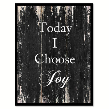 Today I choose joy Quote Saying Canvas Print with Picture Frame Home Decor Wall Art
