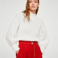 Puffed sleeves sweater - Women | MANGO USA