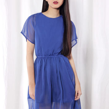 About Alexander Betina Sleeved Dress in Royal Blue