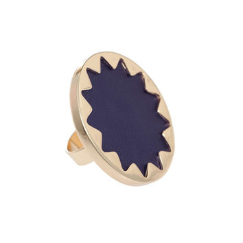 Round Navy Blue Ring