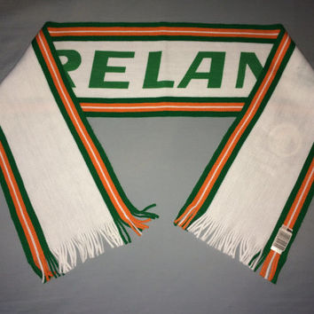Sale!! Vintage IRELAND Soccer Scarf - World Cup 1994 USA