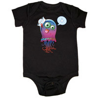 Gorillaz Official Store | Gorillaz Jelly Fish Black Babygrow