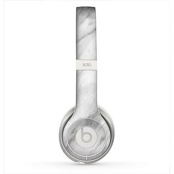 The White Marble Surface Skin for the Beats by Dre Solo 2 Headphones