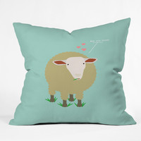 Nicole Martinez Ewe Are Loved Throw Pillow