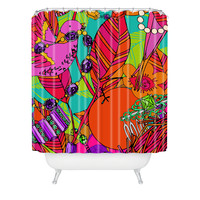 Aimee St Hill Gems And Birds Shower Curtain