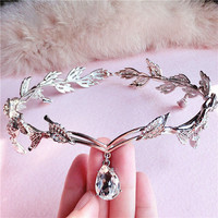 Leaf Crystal Hair Crown AWC0027 [WC0027] - $29.00 - mystique.VPfashion.com